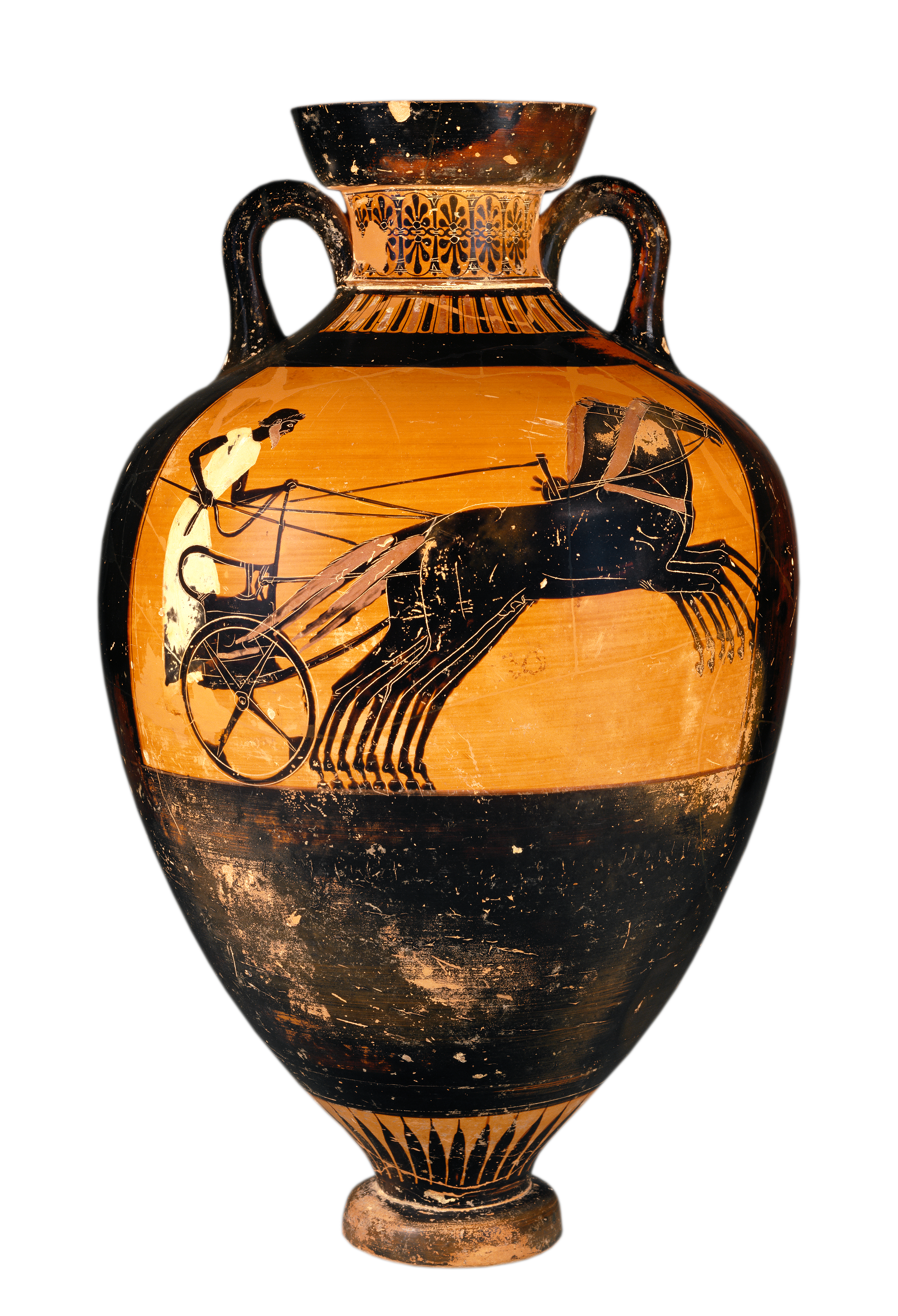 File:Getty Open Image kleophrades-painter-attic-panathenaic-amphora-greek - Greek Urn PNG