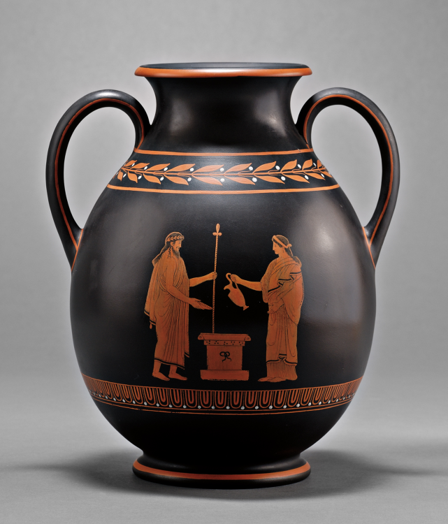 Wedgwood | Black Basalt Vase - Greek Urn PNG