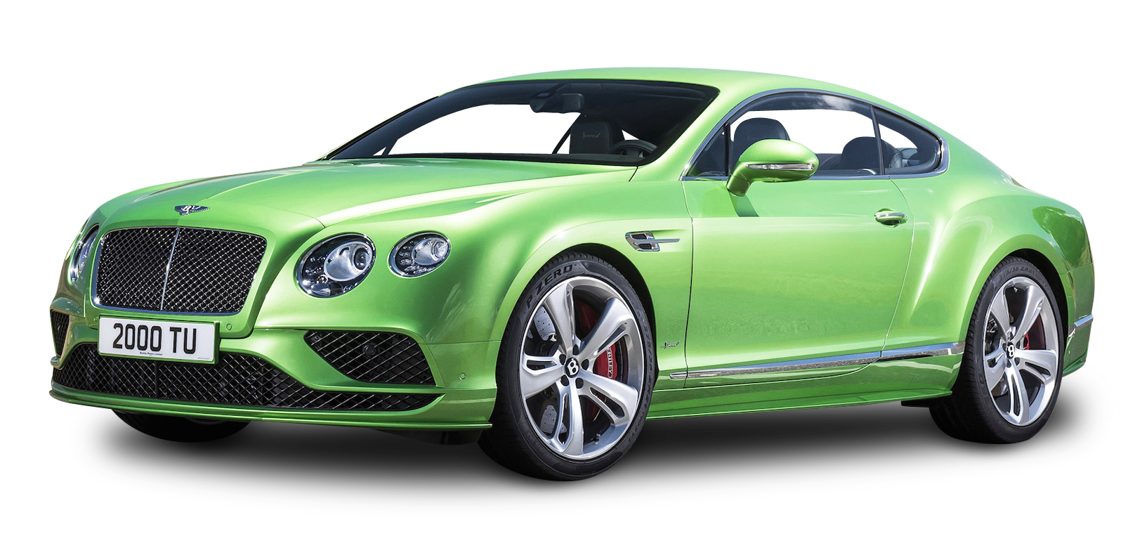 Green Bentley Continental GT4 Car PNG Image - Bentley PNG