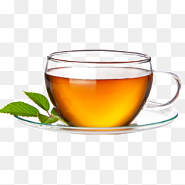 A cup of tea and mint leaves - Green Tea PNG