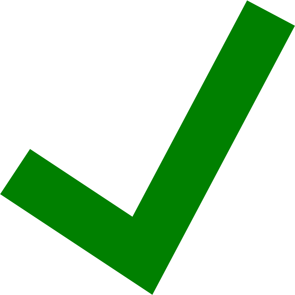 Green Tick PNG File