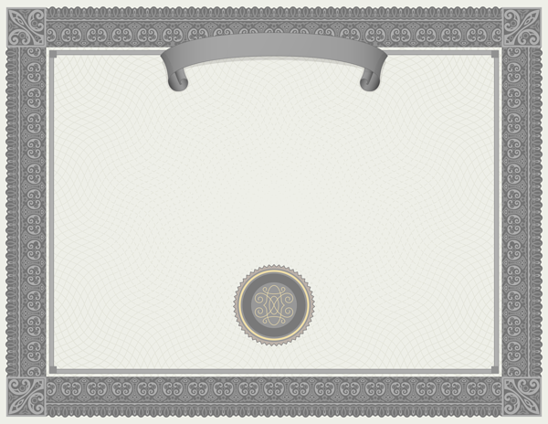 Grey Certificate Template PNG Image - Certificate Template PNG