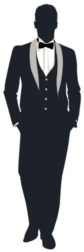Groom Silhouette PNG Clip Art