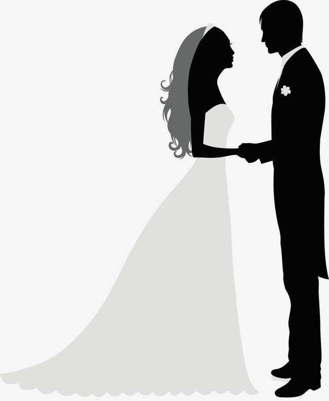 Bride and Groom Silhouette Fr