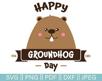 Groundhog Day Cut File, Happy Groundhog Day SVG, Groundhog Vector, Groundhog  Clip- - Groundhog Day PNG HD