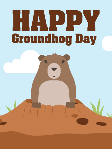 Happy Groundhog Day Card - Groundhog Images PNG HD