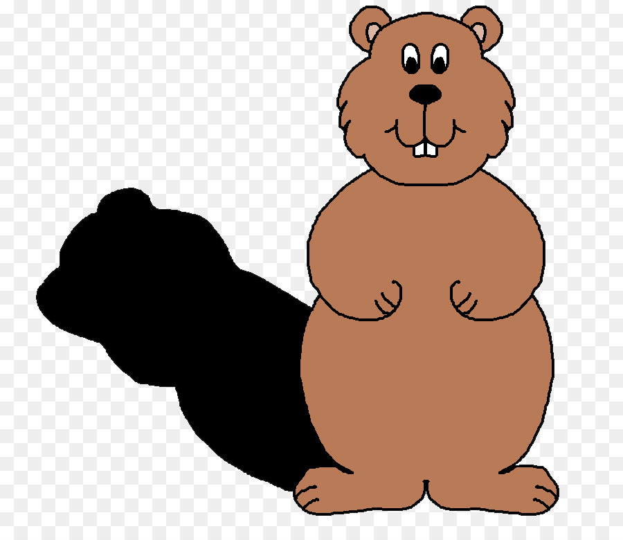 The Groundhog Groundhog Day Clip art - Bear Shadow Cliparts - Groundhog Images PNG HD