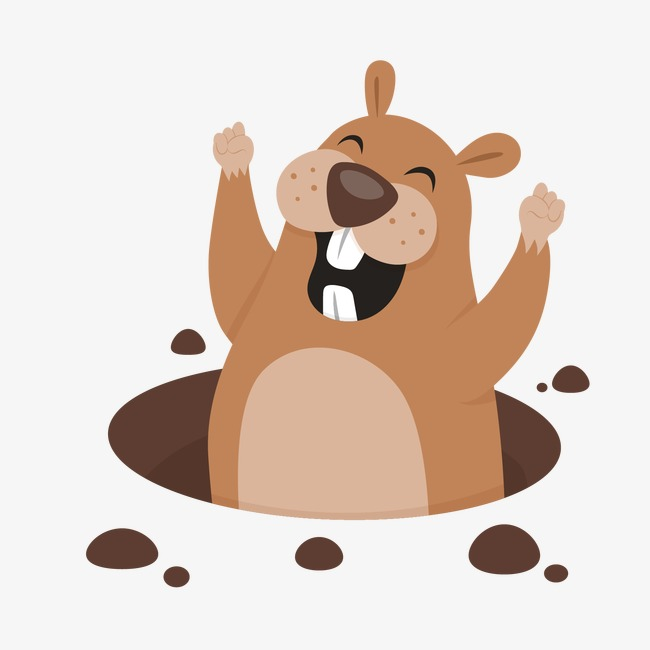 Groundhog, Cartoon, Groundhog Vector Free PNG and Vector - Groundhog PNG HD