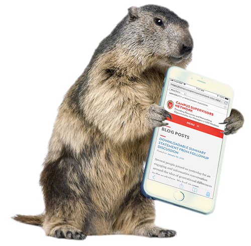 groundhog with phone in hand showing CSN website - Groundhog PNG HD