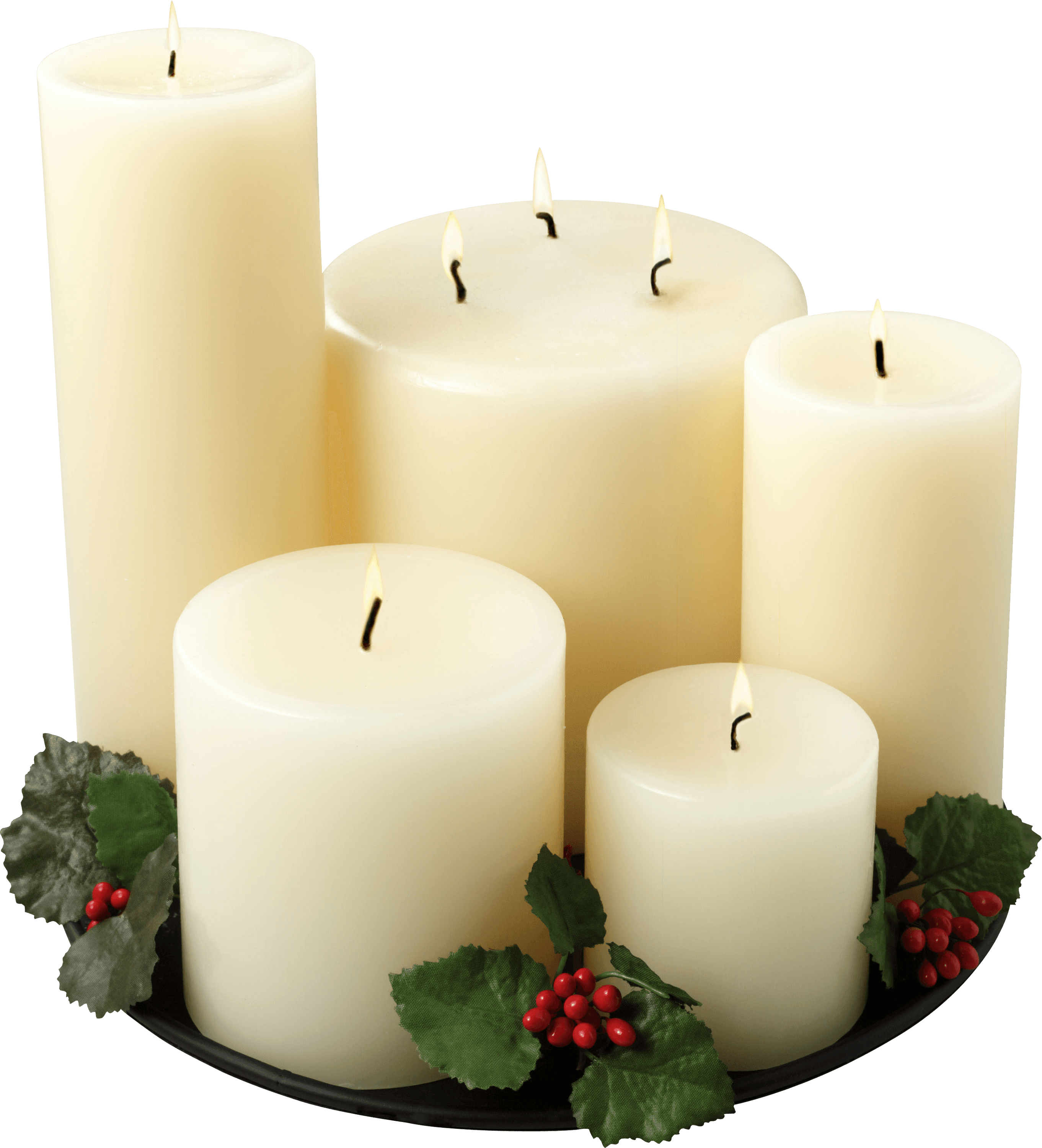 Group Of White Candles - Church Candles PNG