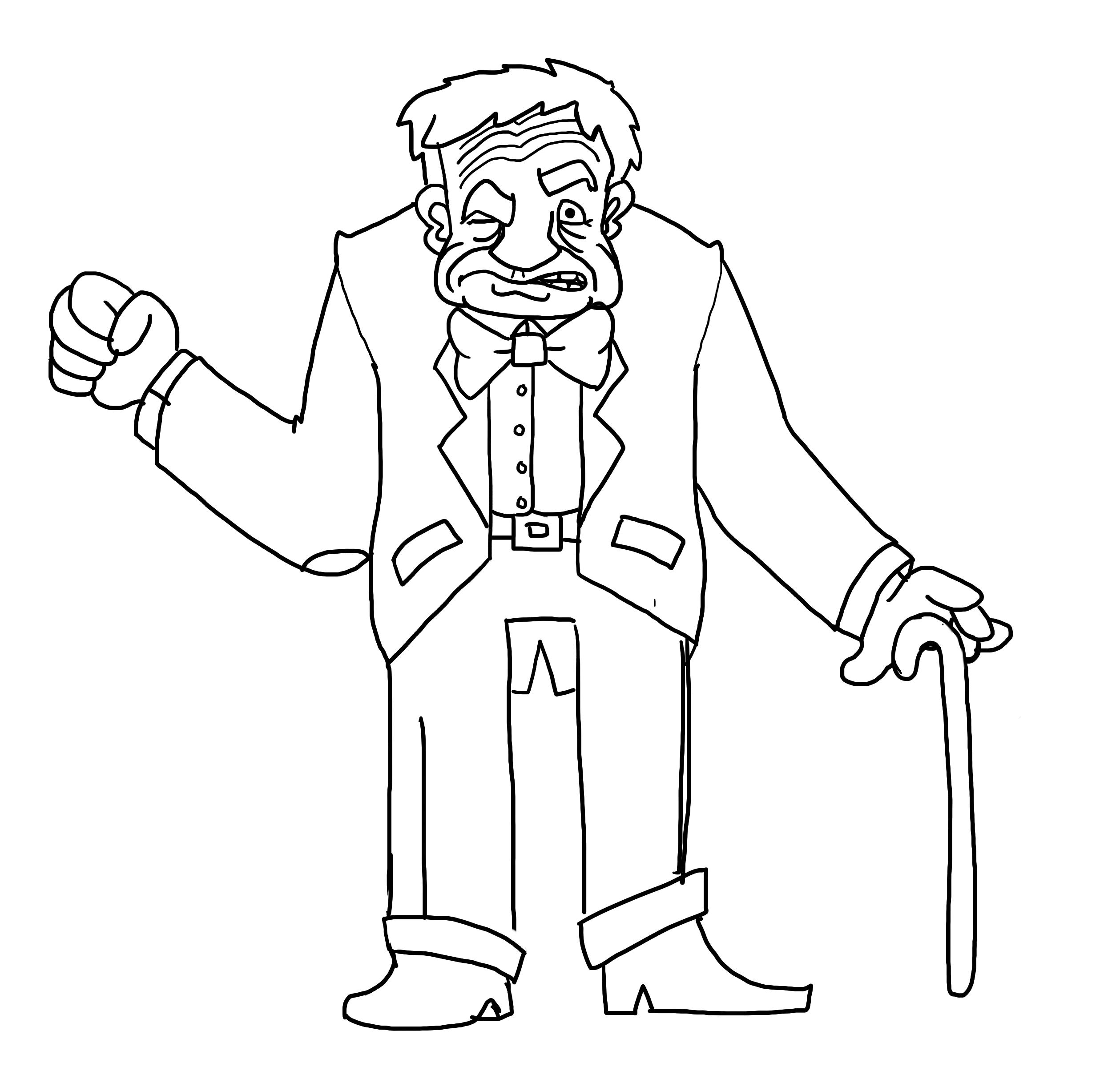 Grumpy Old Man PNG - 47949