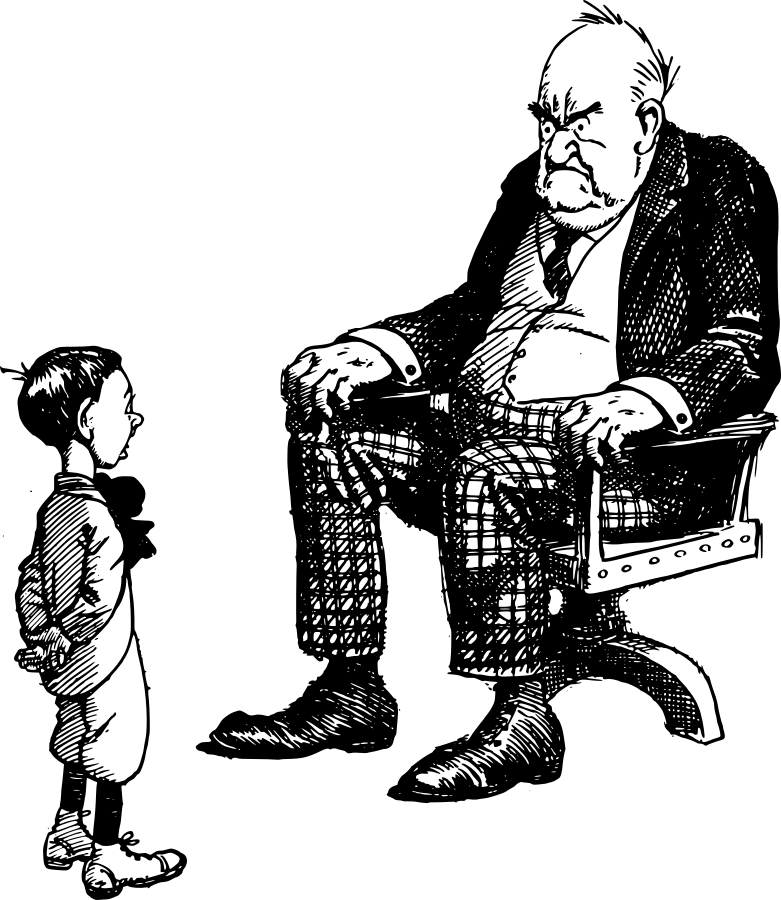 grumpy old man and boy -  /cartoon/people/men_cartoons/old_men/grumpy_old_man_and_boy.png.html - Grumpy Old Man PNG