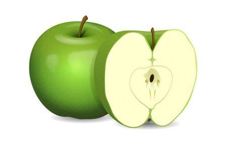 Grüner Apfel-ClipArt kostenlos - Gruner Apfel PNG