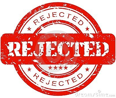 Rejected Stamp PNG - 3897