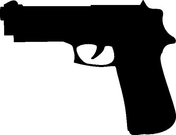 Gun PNG Black And White - 65224