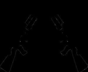Gun PNG Black And White - 65223