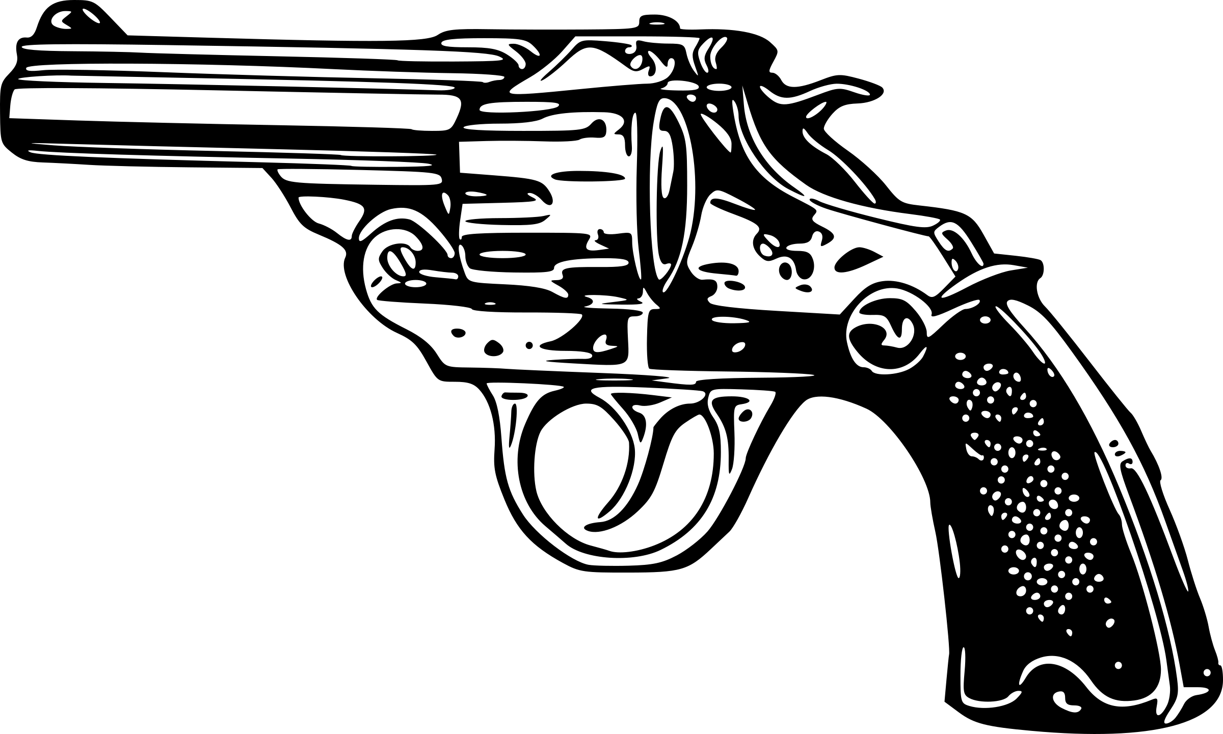 Gun PNG Black And White - 65225