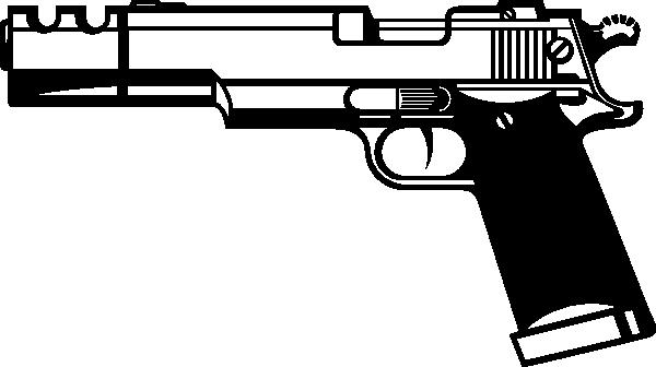 Gun PNG Black And White - 65219