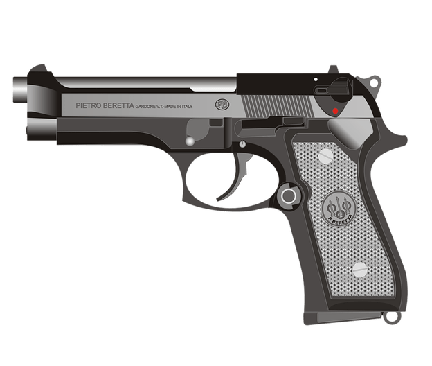 Beretta Pistol transparent background - Gun PNG Transparent Background