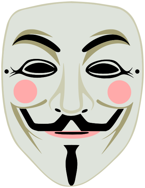 V for Vendetta Guy Fawkes mas