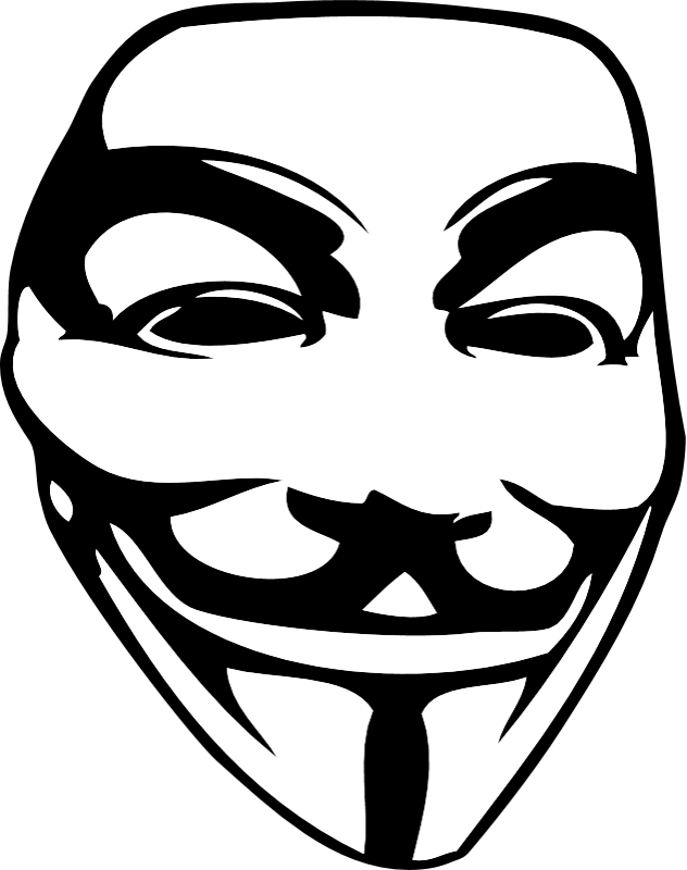 The Guy Fawkes mask sticker - Beehive Clothing - Guy Fawkes PNG