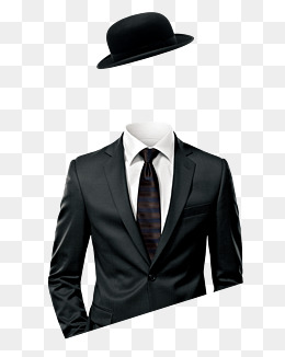 man wearing a suit, Black Hat, Topper, Suit PNG and PSD - Guy In A Suit PNG