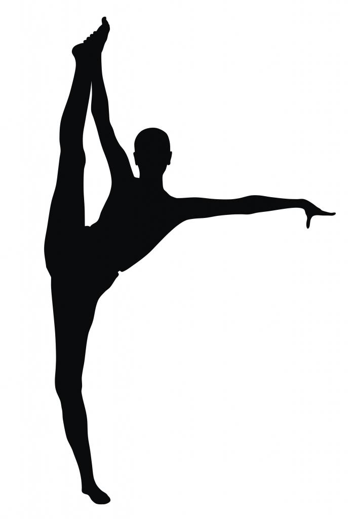Dancer Clipart Silhouette Leap - Gymnastics PNG Splits