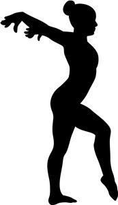 Free Printable Gymnastic Silhouettes - Gymnastics PNG Splits