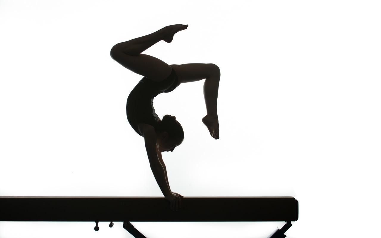 Gymnast Silhouette Clip Art - Gymnastics PNG Splits