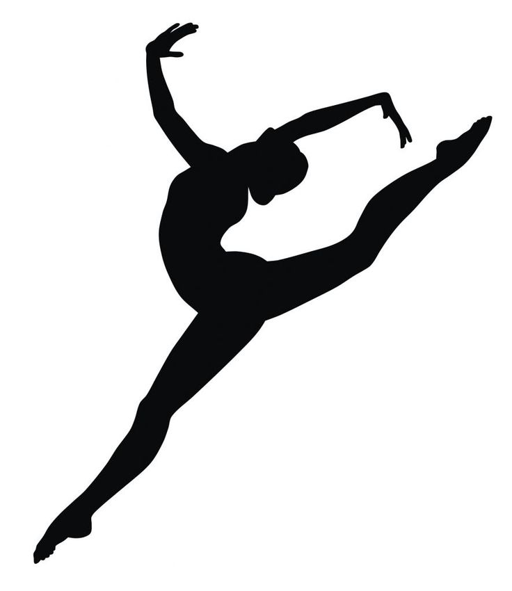 Gymnast Silhouette Decal Removable Wall Sticker Home Decor Art . - Gymnastics PNG Splits