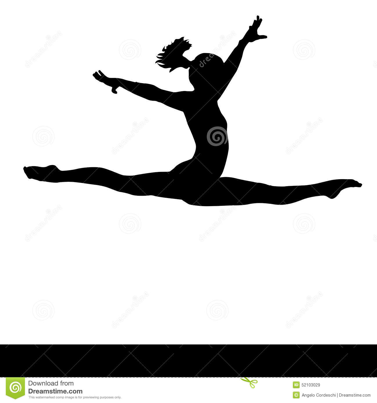 Royalty-Free Vector. Download Artistic Gymnastics. - Gymnastics PNG Splits