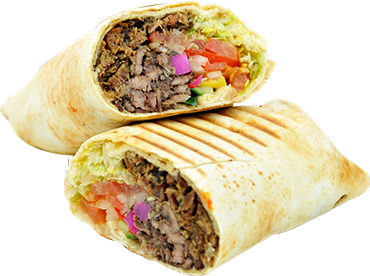 The outside of the meat is sliced vertically in thin, crisp shavings when  done. It is generally served in an oiled, lightly grilled piece of pita, PlusPng.com  - Gyro PNG