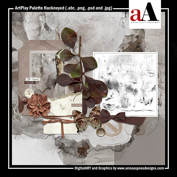 Oscraps pluspng.com Digital Scrapbook Store | Scrapbooking | Art :: Shop by  Designer :: Anna Aspnes Designs :: ArtPlay Palette Hackneyed - Hackneyed PNG