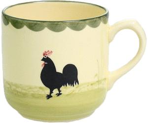 Zeller Keramik Hahn und Henne Kaffeebecher 0,35 Ltr. - Hahn Und Henne PNG