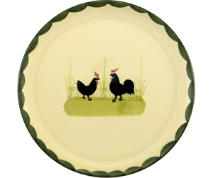 Zeller Keramik Hahn und Henne Teller 21 cm - Hahn Und Henne PNG