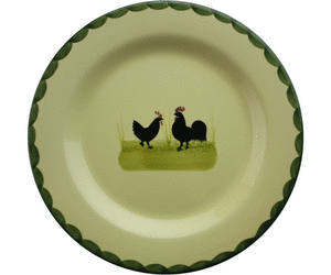 Zeller Keramik Hahn und Henne Teller 25 cm - Hahn Und Henne PNG