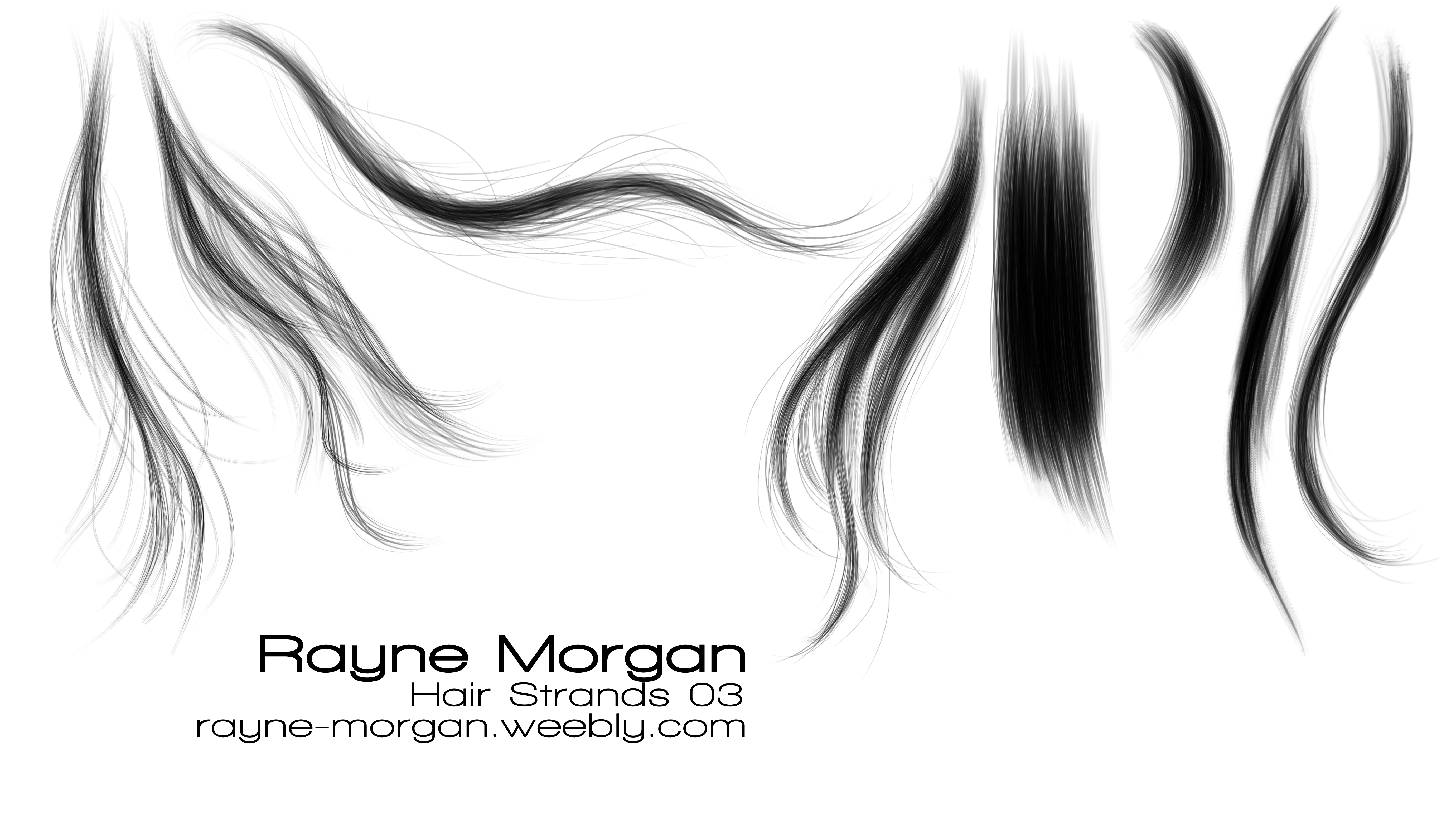 RayneMorgan 118 25 RM - Hair Strands 03 By RayneMorgan - Hair PNG