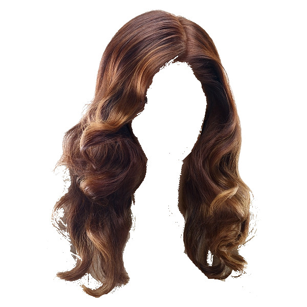 Curly Brunette wig by scarscar93 ❤ liked on Polyvore featuring hair, doll  parts, wigs - Hair Wig PNG
