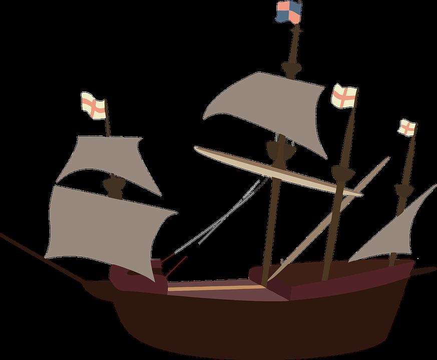 Kalóz Hajó, Hajó, Pirates, Vitorla, Vitorlás, Hajózási - Hajo PNG