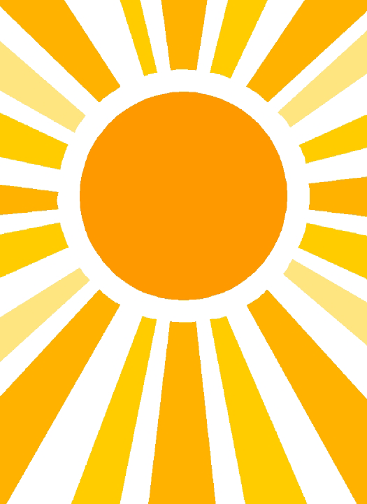 Half Sun With Rays PNG - 76127
