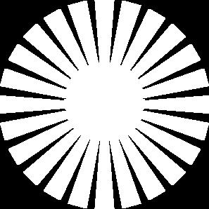 Sun Rays Half Opaque Clip Art - Half Sun With Rays PNG