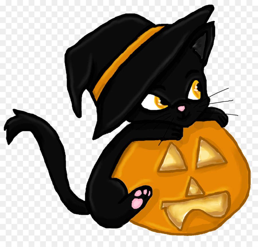 Black cat Kitten Halloween Clip art - Witch Cat - Halloween Black Cats PNG