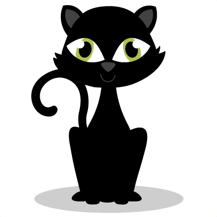 Black Cat SVG cutting files f