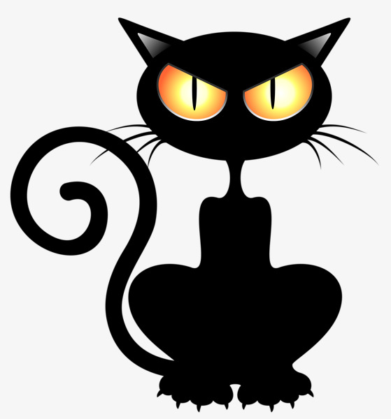 Halloween Black Cat Clipart -