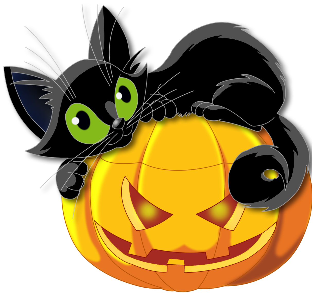 halloween scary black cat ico