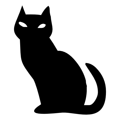 halloween scary black cat icon - Halloween Black Cats PNG