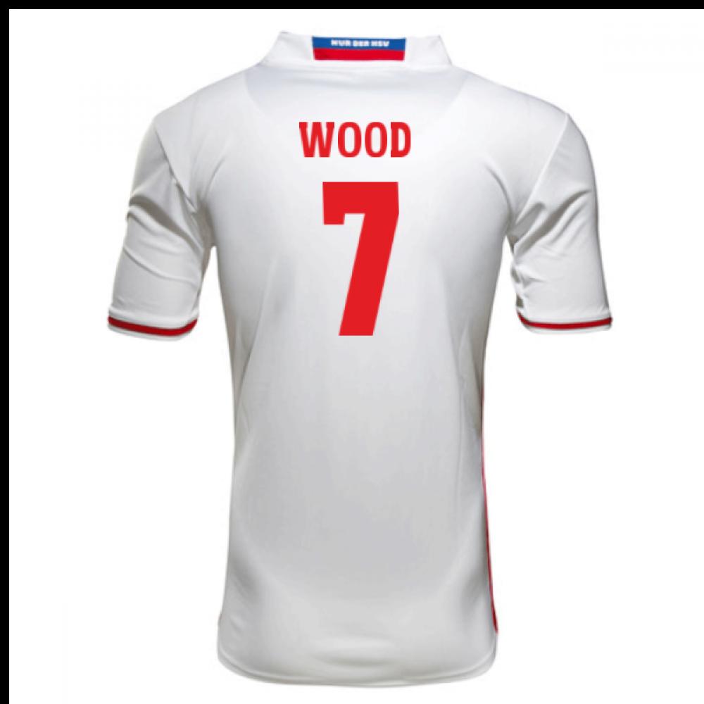 2016-17 Hamburger SV Bobby Wood 7 Home Football Shirt - Hamburger Sv PNG