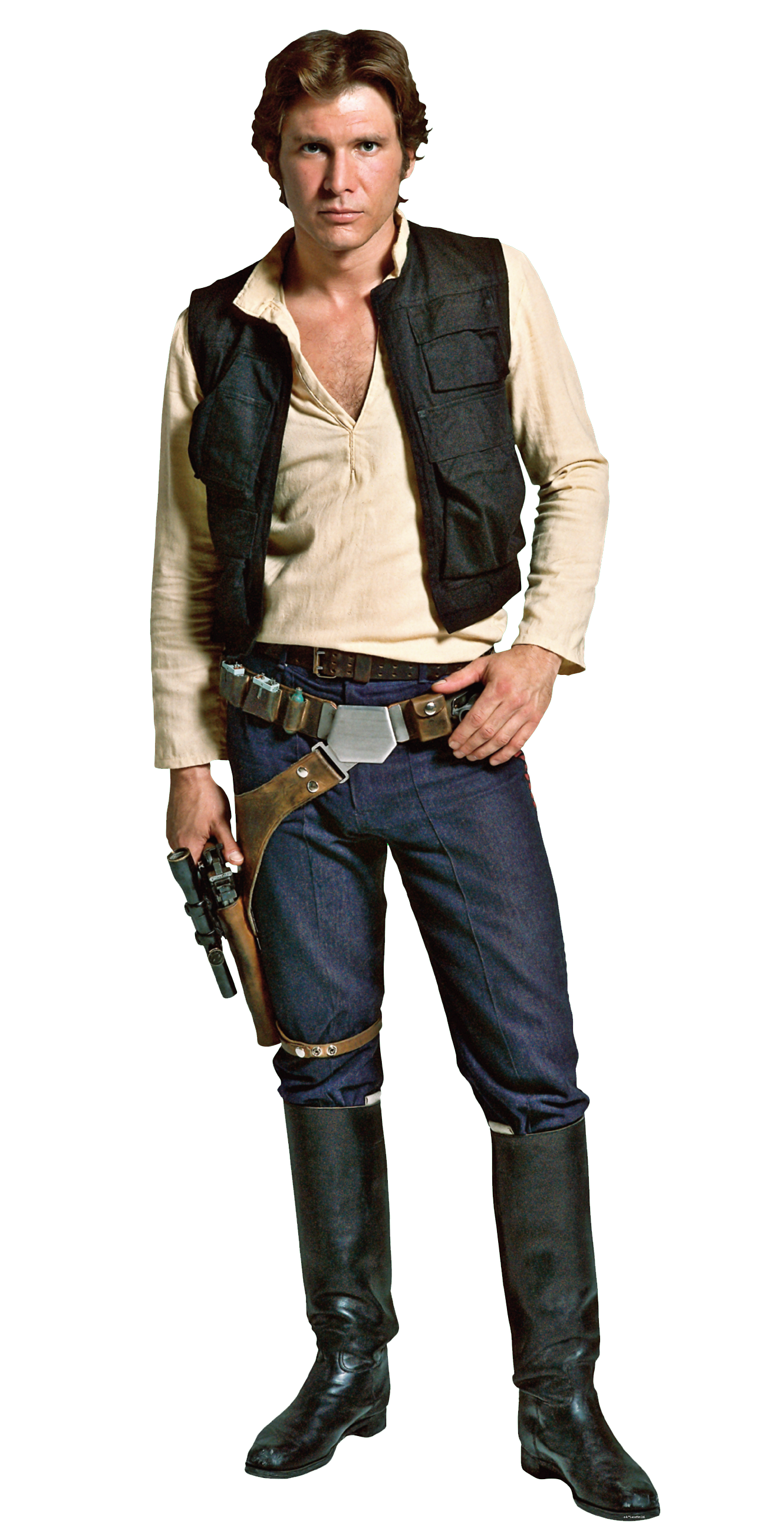 HanSolo-Fathead.png - Han Solo PNG