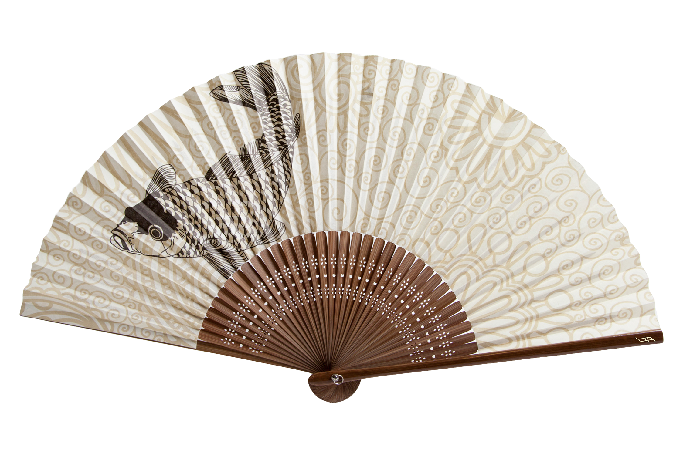 Fish-transparent - Hand Fan PNG