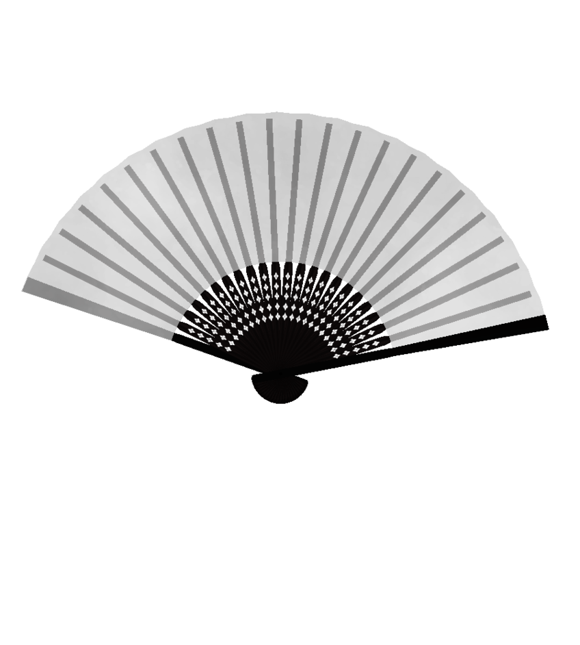 MMD Fan DL by Ayame0126 PlusPng.com  - Hand Fan PNG